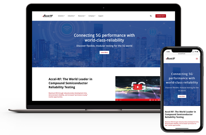 Accel-RF New Website